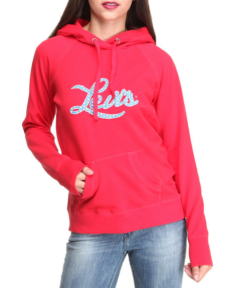 Levi's Red Long Sleeve Studded Hoodie
