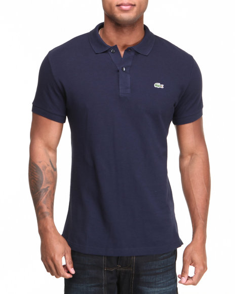 Lacoste Navy S/S Slim Fit Pique Polo