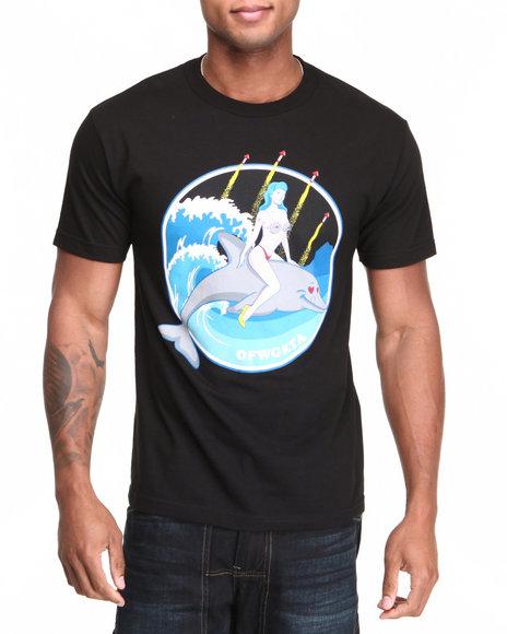 Odd Future Apparel Black Jasper Dolphin Fireworks Tee