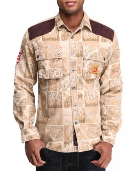 Heritage America - Angry & Aggressive Constructed Twill Button-Down