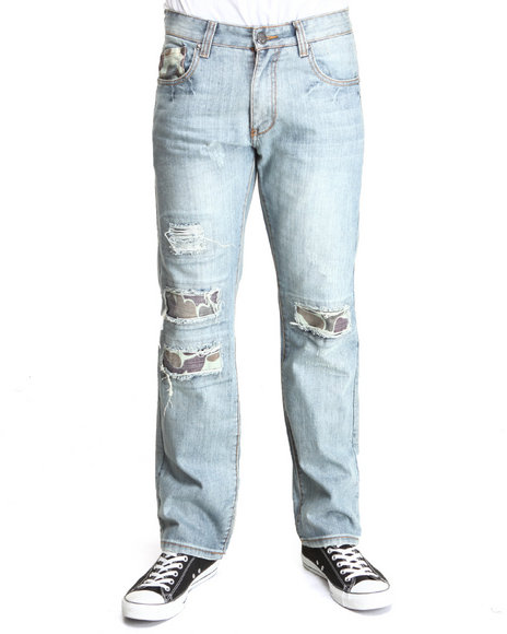 Heritage America Light Wash Rock Out Brother Denim Jeans