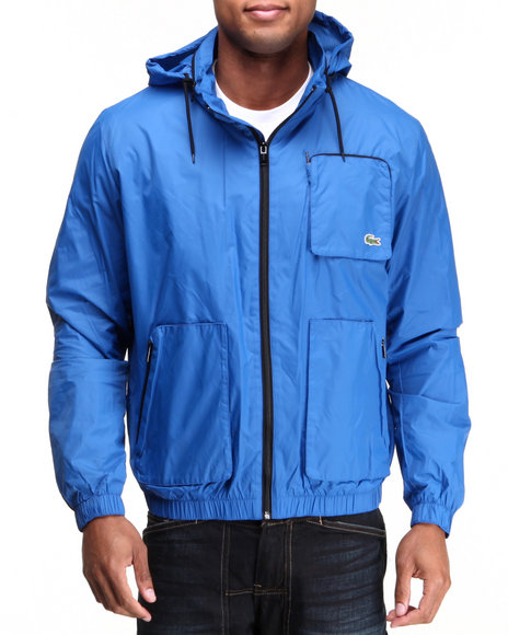 Lacoste Men Lightweight Nylon Jacket Blue XLarge