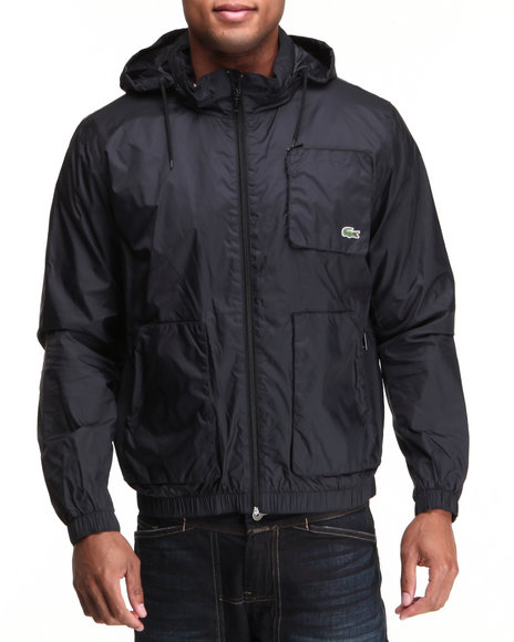 Lacoste Men Lightweight Nylon Jacket Black XLarge