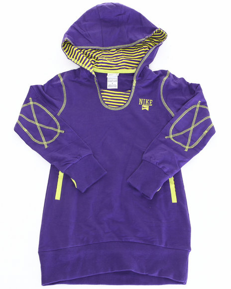 Nike Girls Purple Hoodie Dress (7-16)