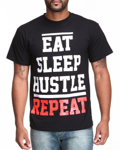 Ackers Men Eat Sleep Tee Black Medium