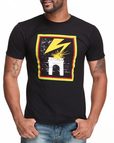 Black Apple - Men Black,Gold Bolt Tee