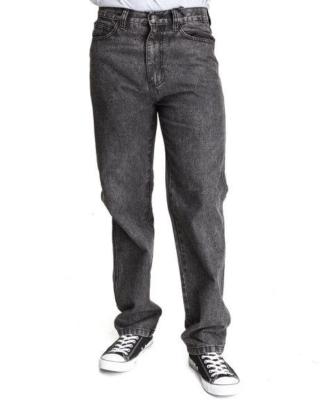 Mo7 - Men Black Marble Washed Color Denim Jeans