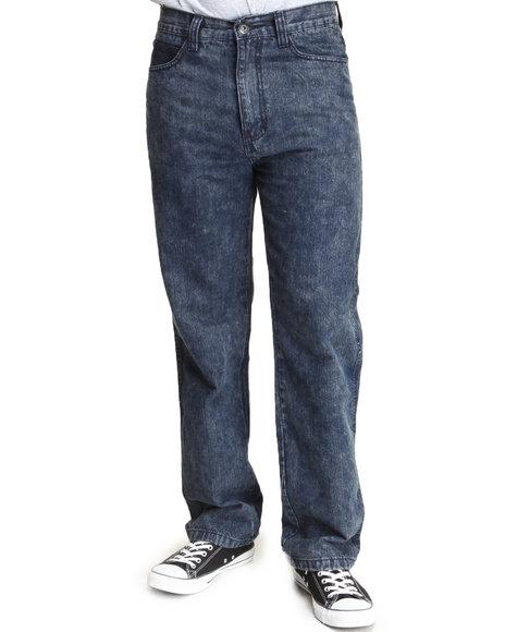 MO7 Indigo Marble Washed Color Denim Jeans