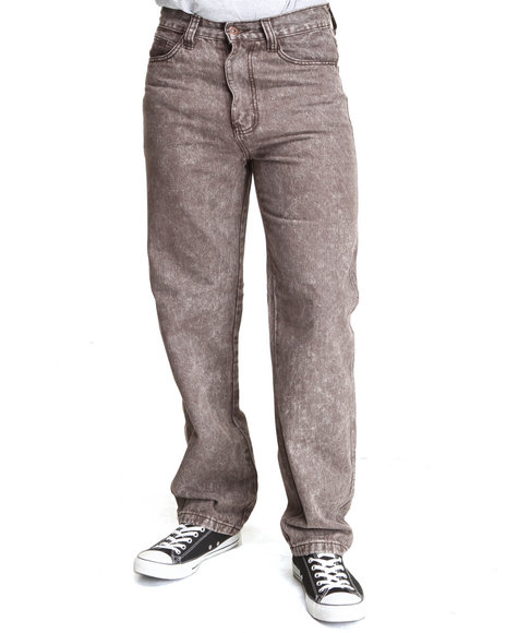 MO7 Brown Marble Washed Color Denim Jeans