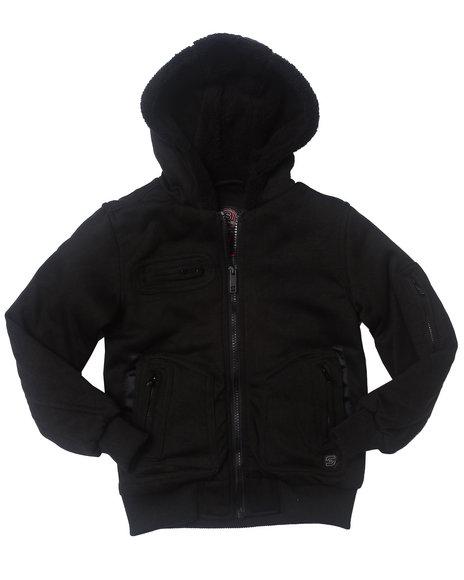 Arcade Styles - Boys Black Spies Like Us Fleece Jacket (4-7)