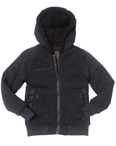 Arcade Styles - Boys Grey Spies Like Us Fleece Jacket (4-7)