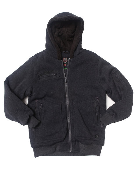 Arcade Styles - Boys Grey Spies Like Us Fleece Jacket (8-20)