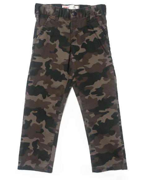 Levi's Boys Camo,Olive 511 Twill Trouser Pants (4-7X)