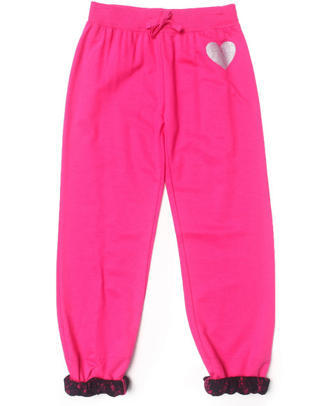 La Galleria Girls Pink Roll Cuff Pants (7-16)