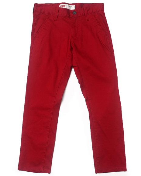 Levi's Boys Maroon 511 Twill Trouser Pants (8-20)