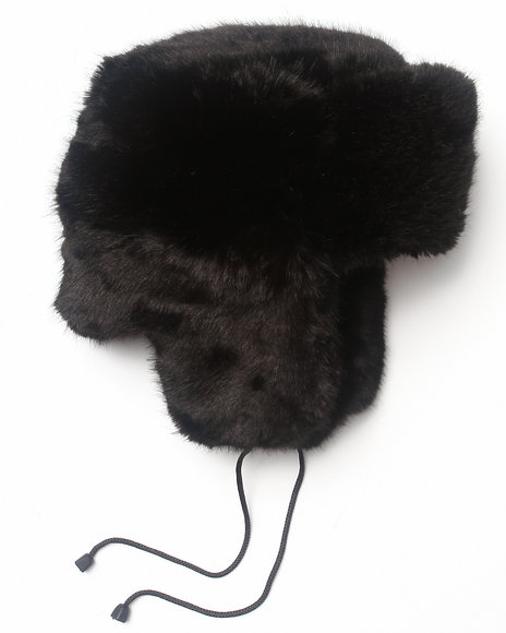 Drj Accessories Shoppe Men Faux Fur Trapper Hat Black