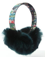 Women - Faux Fur Earmuff W/ Graffiti Band