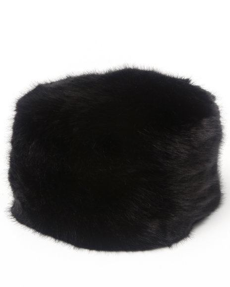 Drj Accessories Shoppe Women Faux Fur Pillbox Hat Black - $26.99