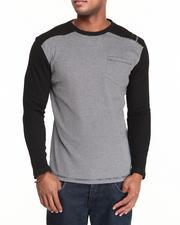 Men - Waffle Knit L/S Crewneck Shirt