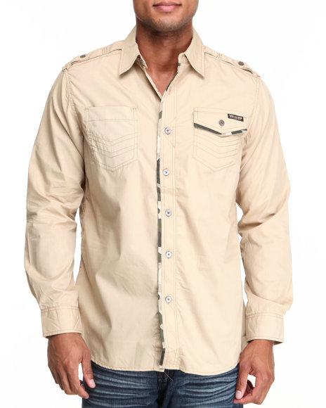 MO7 Khaki Camo Trim L/S Shirt