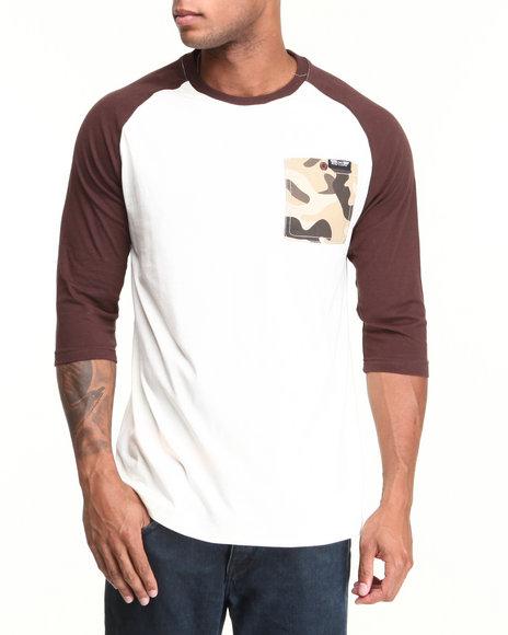 MO7 Brown Camo Trim 3/4 Raglan Shirt