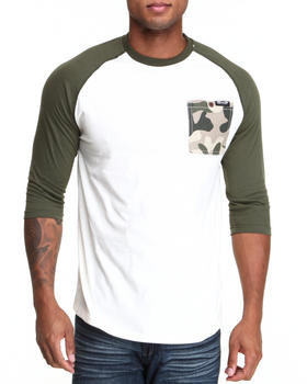 MO7 - Camo Trim 3/4 Raglan Shirt