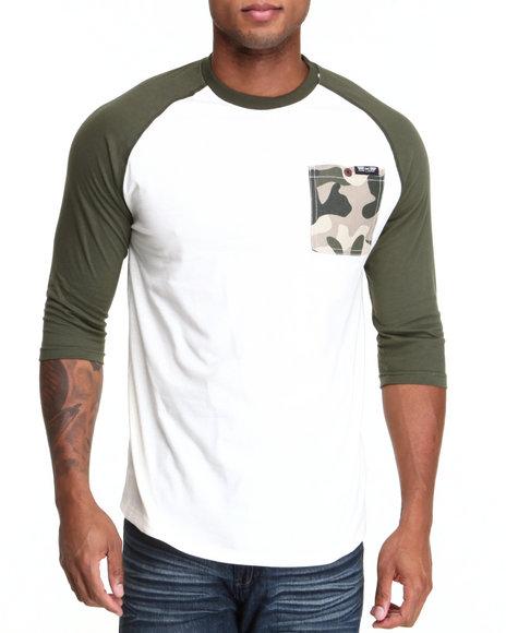 MO7 Olive Camo Trim 3/4 Raglan Shirt