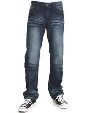 Men - Pu Trim Fashion Denim Jeans