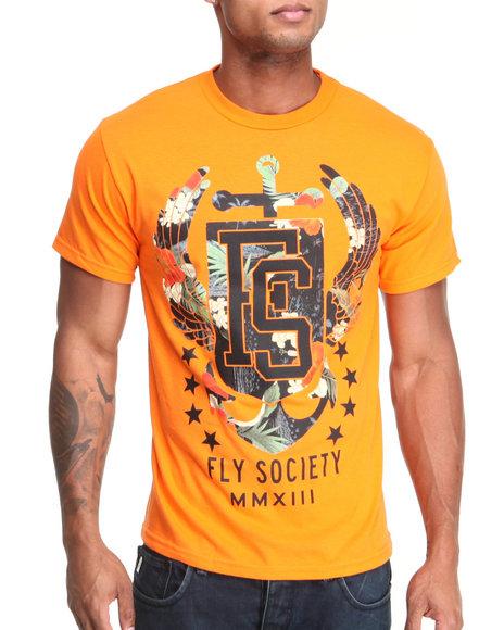 Flysociety Men All Hands TShirt Orange Small