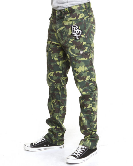 Blac Label Men Camo B L P Cargo Pants