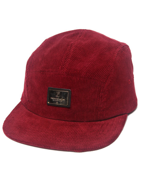 Crooks & Castles Men Greco Thuxury 5 Panel Cap Red - $21.99