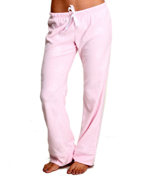 Basic Essentials - Women Pink Fleece Lounge Bottoms