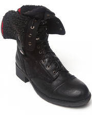 Footwear - Anda Fold Down Combat Boot with Sherpa