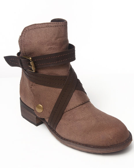 Rebels - Women Brown Lyon Bootie With Straps