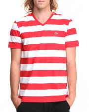 T-Shirts - S/S Bar Stripe V-Neck Tee