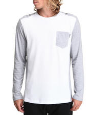 Men - Crewneck Mixed Fabric Thermal Shirt