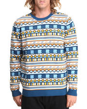 Lacoste - L!Ve Geometric Jacquard Pattern Crewneck Sweater