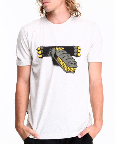 Lacoste Live Grey L!Ve S/S Novelty Croc Graphic Tee