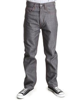 MO7 - Raw Wash Contrast Stitch Straight Fit Denim Jeans
