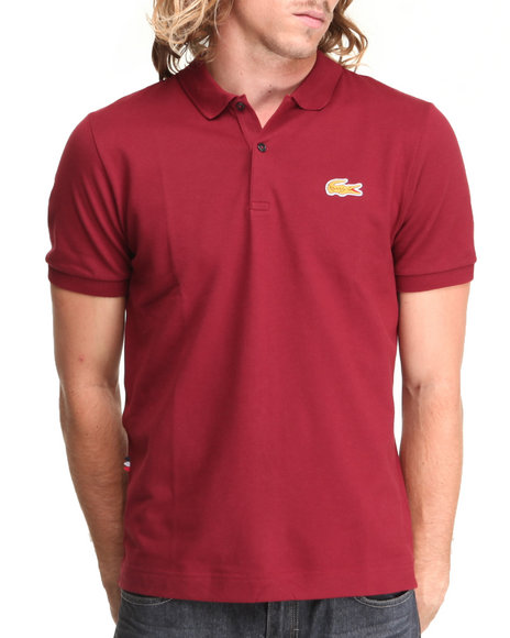Lacoste Live Red,Yellow L!Ve S/S Stretch Croc Pique Polo