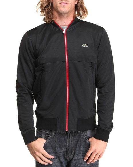 Lacoste Live - Men Black,Red L!Ve Track Jacket