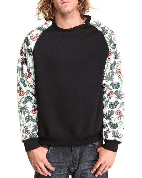 Lrg Men Special Edition Alohigh Raglan Crewneck Sweatshirt Black Medium
