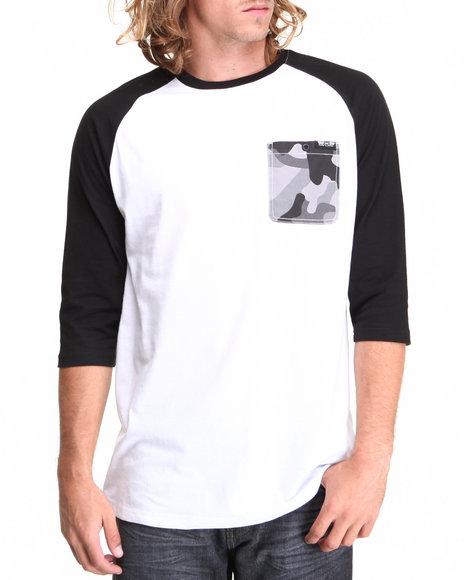 MO7 Black Camo Trim 3/4 Raglan Shirt