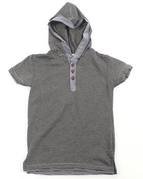 Arcade Styles - S/S HOODED HENLEY (4-7)