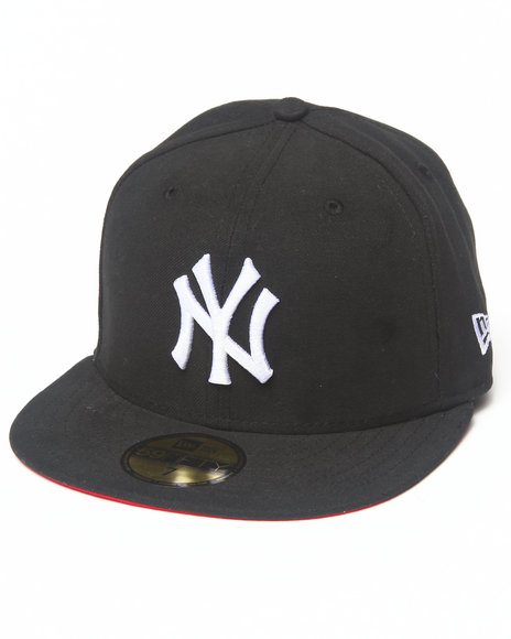 New Era - Men Black New York Yankees Team Patch 5950 Fitted Hat