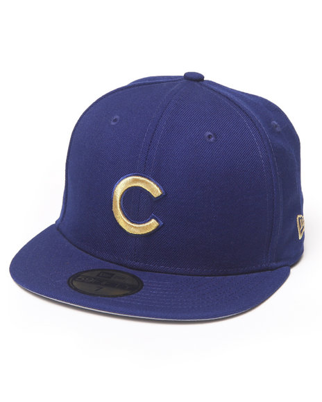 New Era - Men Blue Chicago Cubs 59Th Anniversary Side Patch 5950 Fitted Hat