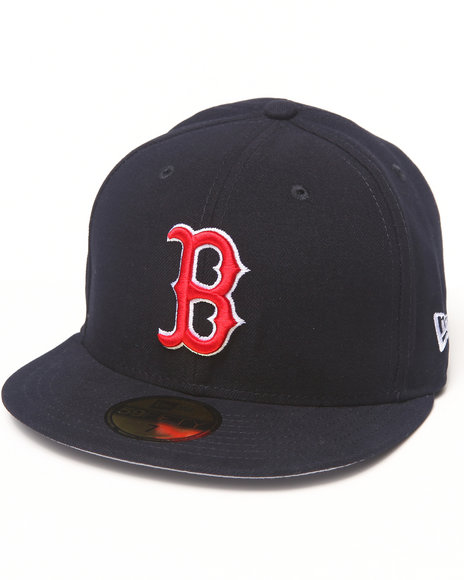 New Era Navy Boston Red Sox Team Patch 5950 Fitted Hat
