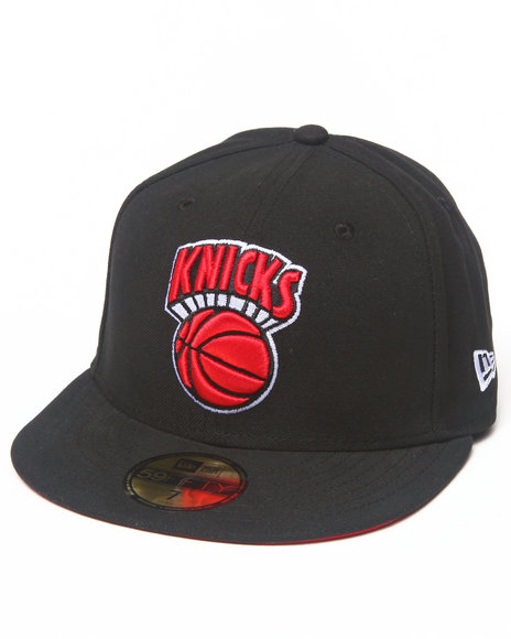 New Era - Men Black New York Knicks Team Patch 5950 Fitted Hat