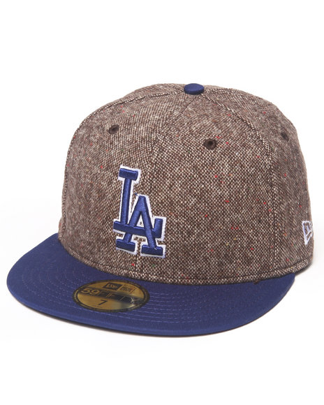 New Era - Men Brown Los Angeles Dodgers Tweed Crest 5950 Fitted Hat