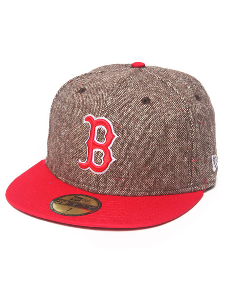 New Era - Men Brown Boston Red Sox Tweed Crest 5950 Fitted Hat